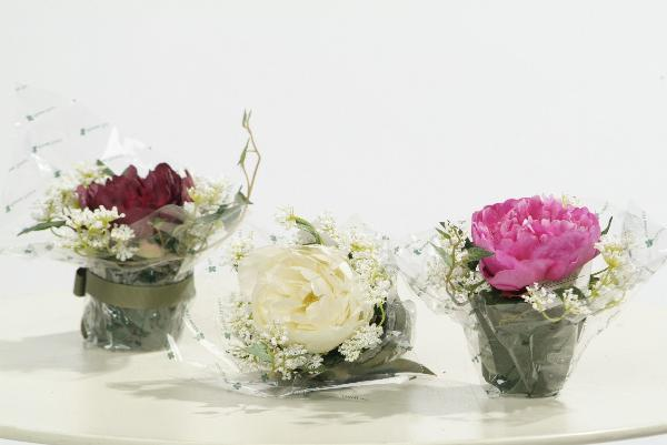Aranjament Cu Flori De Bujor 12 Cm Ho Alb Peony Aranjamente