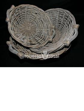 Cos din nuiele si lemn de salcie 47 cm
