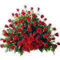 Aranjament Exclusive Red Dutch Roses Mediu