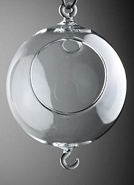 Bol din sticla suspendat D20cm cu doua carlige pentru terarii