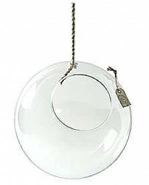 Bol din sticla suspendat D29cm cu funie pentru terarii