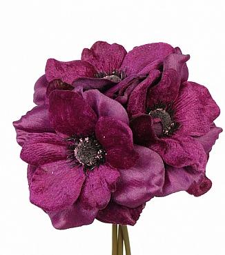 Buchet cu flori de Anemona D15xH20 cm mov