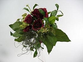 Buchet cu flori Hortensia HO rosu