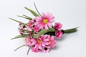 Buchet cu flori Lathyrus si Margareta HO roz