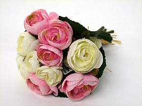 Buchet cu flori Ranunculus 20 cm HO roz