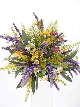 Buchet cu Lavanda si flori de camp 20 cm multicolor