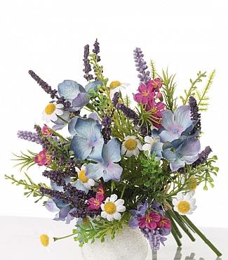 Buchet cu Lavanda si flori de camp D10xH18 cm multicolor