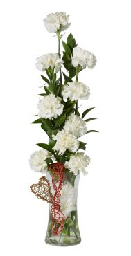 Buchet de garoafe Fluffy White Carnations