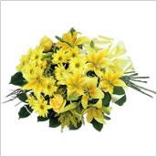 Buchet galben Deluxe Lemon & Lily Mediu