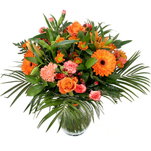 Buchet portocaliu Lovely Bright Orange
