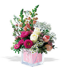 Buchet roz Crystal Baby