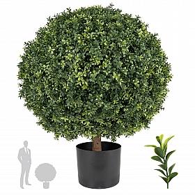 Buxus artificial bol D70xH90 cm, verde cu UV