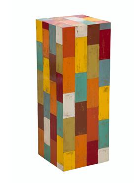Column Pine cu lamele colorate 30x30x100 cm