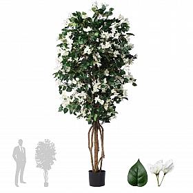 Copac artificial Azalea cu flori albe H180 cm