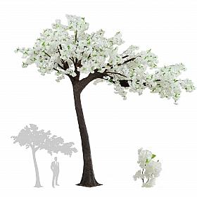 Copac artificial Cires D320xH320cm cu flori albe