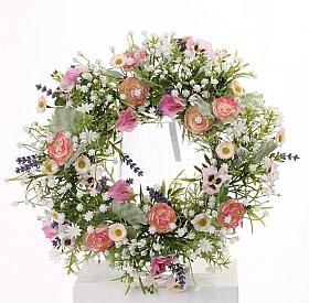 Coronita cu flori de Lavanda si Ranunculus D15X35 cm