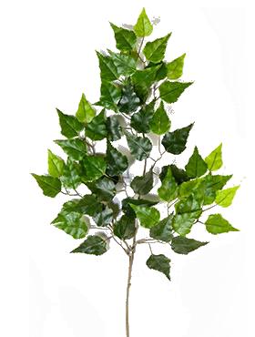 Crenguta cu frunze de Mesteacan 68 cm verde Birch