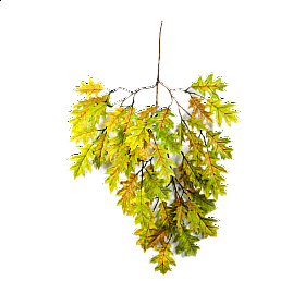 Crenguta cu frunze de Stejar 65 cm verde Oak
