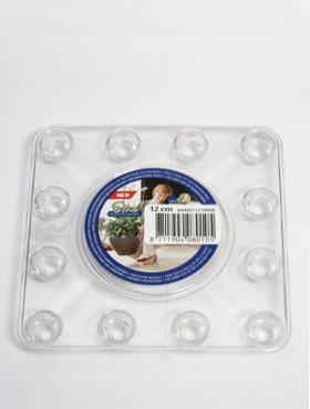 Farfurii transparente 10x10x2 cm