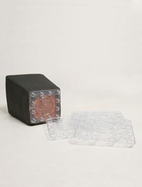 Farfurii transparente 12.5x12.5x2 cm