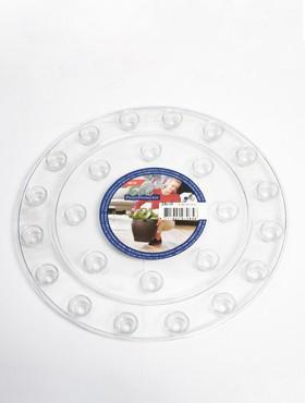Farfurii transparente 25x2 cm