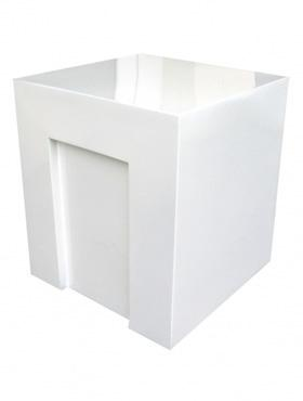 Fiberstone 40X40x45 cm alb