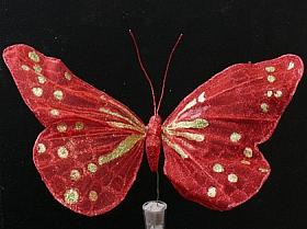 Fluture 30 cm rosu