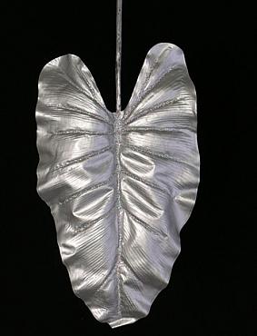 Frunza de Colocasia L55xl30xH110 cm argintie Urechea-Elefantului