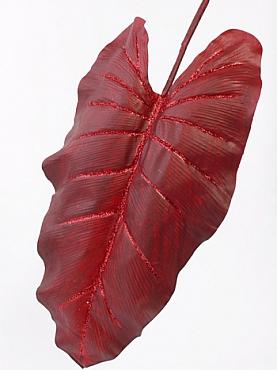Frunza de Colocasia L55xl30xH110 cm rosu Urechea-Elefantului