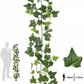 Ghirlanda artificiala de iedera 170cm, 110 frunze, verde inchis / verde deschis