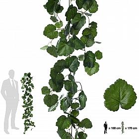 Ghirlanda artificiala muscata 170cm, 128 frunze, verde inchis/deschis