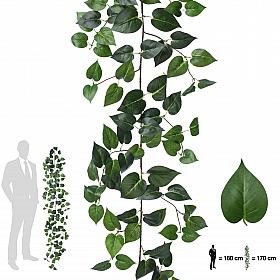 Ghirlanda artificiala pothos 170cm, 138 frunze, verde
