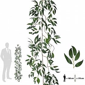 Ghirlanda artificiala salcie 170cm, 425 frunze, verde