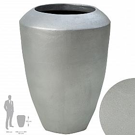 Ghiveci ceramic Coppa 50x68 cm argintiu