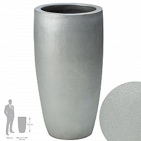 Ghiveci ceramic Partner extra 46X90 cm argintiu