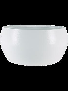 Ghiveci Cresta D28xH13 cm alb