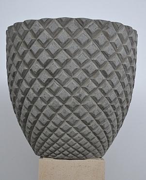 Ghiveci plante Diamante 70X65 cm gri ciment