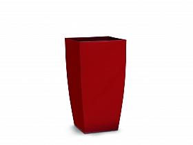 Ghiveci tip Lechuza Cubico 36x36x66,cm, cu set complet udare, rosu mat