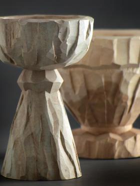 Indoor Pottery Calix 30x24 cm crem