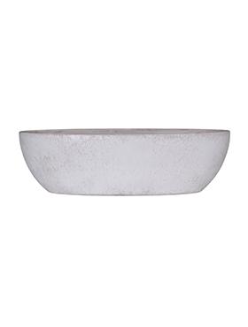 Indoor Pottery Roto Pebble 100x30 cm alb