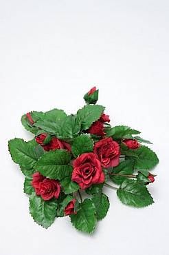 Inel pentru lumanare cu flori de trandafir D12 cm HO rosu