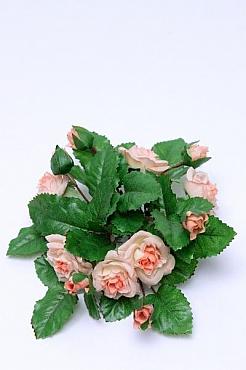 Inel pentru lumanare cu flori de trandafir D12 cm HO roz - somon