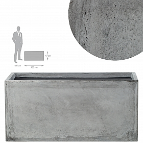 Jardiniera 100x47x47 cm gri ciment