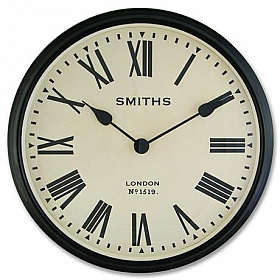 Lasceles Smiths Large Station Clock 50x8 cm