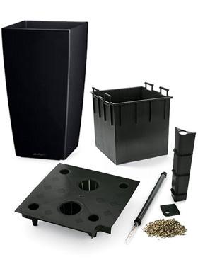 Lechuza Cubico 30x30x56 cm, set complet negru