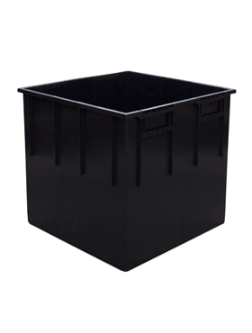 Liner interior/exterior pentru ghiveci Lechuza Cubico 50x50x45 cm negru