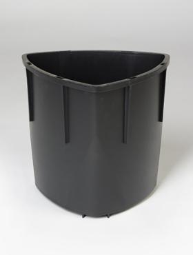 Liner interior/exterior pentru ghiveci Lechuza Delta 30x56 cm negru