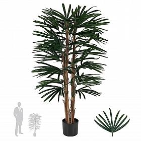 Palmier artificial Rhapis excelsa H110cm cu 30 frunze