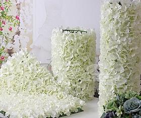 Perete din hortensii artificiale 40x60cm, alb VF19