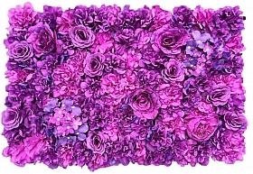 Perete din trandafiri, bujori si hortensii artificiale 40x60cm, mov magenta VF6